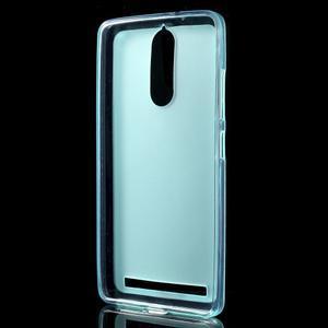 Matný gélový obal pre mobil Lenovo K5 Note - modrý - 2