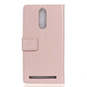 Horse PU kožené puzdro pre mobil Lenovo K5 Note - ružové - 2
