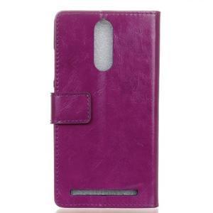 Horse PU kožené puzdro pre mobil Lenovo K5 Note - fialové - 2
