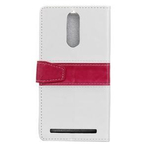 Colory knížkové pouzdro na Lenovo K5 Note - bílé - 2
