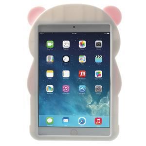 3D Silikonové puzdro na iPad mini 2 - ružová panda - 2