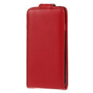 Kožené flipové puzdro pre iPhone 6, 4.7 - červené - 2