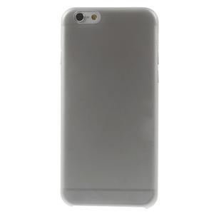 Ultra slim 0.3 mm plastové puzdro pre iPhone 6, 4.7  - sivé - 2