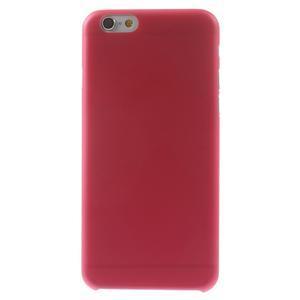Ultra slim 0.3 mm plastové puzdro pre iPhone 6, 4.7  - červené - 2