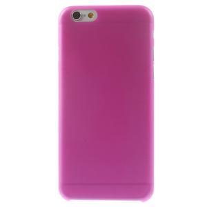 Ultra slim 0.3 mm plastové puzdro pre iPhone 6, 4.7  - ružové - 2