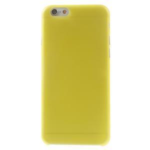 Ultra slim 0.3 mm plastové puzdro na iPhone 6, 4.7  - žlté - 2