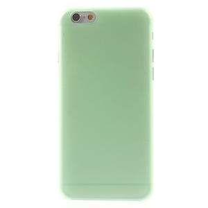 Ultra slim 0.3 mm plastové puzdro na iPhone 6, 4.7  - zelené - 2