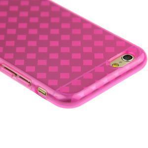 Gélové kostkované puzdro pre iPhone 6, 4.7 - ružové - 2