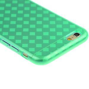 Gélové kostkované puzdro pre iPhone 6, 4.7 - zelené - 2