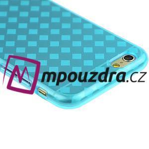 Gélové kostkované puzdro pre iPhone 6, 4.7 - modré - 2