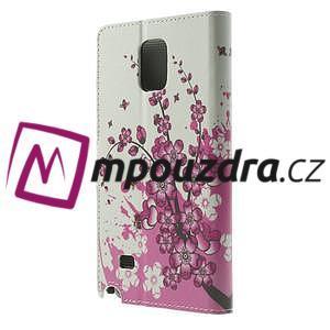 Peňaženkové puzdro pre Samsung Galaxy Note 4- kvitnúca vetvička - 2