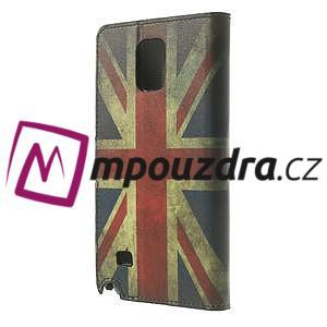 Peňaženkové puzdro na Samsung Galaxy Note 4- UK vlajka - 2
