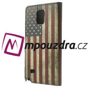 Peňaženkové puzdro pre Samsung Galaxy Note 4- USA vlajka - 2