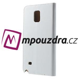 Peňaženkové  kožené puzdro na Samsung Galaxy Note 4- biele - 2
