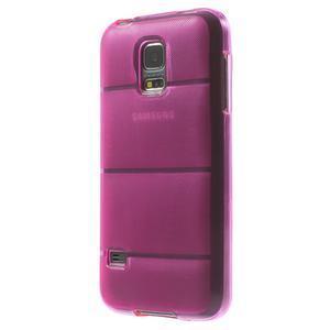 Gélové puzdro pre Samsung Galaxy S5 mini G-800- vesta ružová - 2