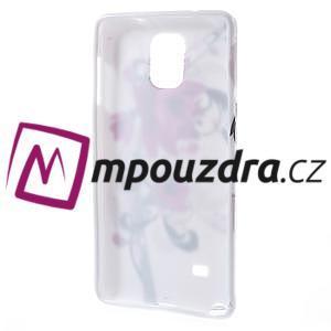 Gélové puzdro pre Samsung Galaxy Note 4- fialový kvet - 2