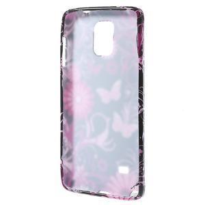 Gélové puzdro na Samsung Galaxy Note 4- farebné motýlci - 2