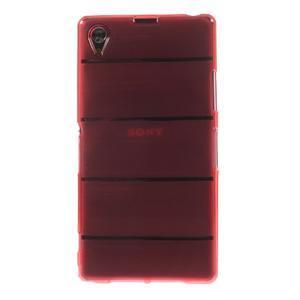 Gelové Body pouzdro na Sony Xperia Z1 C6903 - červené - 2