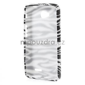 Gélové puzdro na LG L65 D280 - bílá zebra - 2