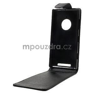 Flipové puzdro na Nokia Lumia 830 - čierné - 2