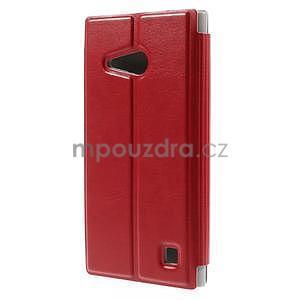 Flipové puzdro na Nokia Lumia 730 - červené - 2