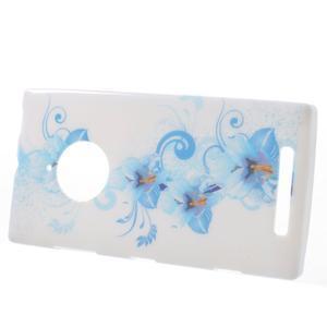 Gélové puzdro na Nokia Lumia 830 - modrá lilie - 2