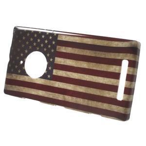 Gélové puzdro na Nokia Lumia 830 - USA vlajka - 2