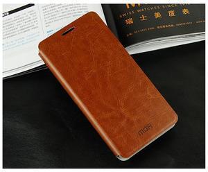 Flipové kožené puzdro na Xiaomi Mi4- hnedé - 2