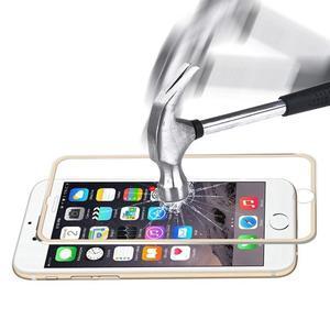Hat celopološné fixačných tvrdené sklo s 3D rohmi na iPhone 7 a iPhone 8 - zlaté - 2