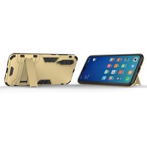 Kickstand odolný hybridný obal na Xiaomi Mi 9 SE - zlatý - 2