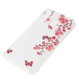 Pattern gélový obal na Samsung Galaxy A50 / A30 / A20 - motýľ a kvety - 2