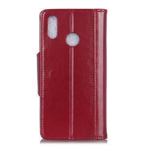 Wallet PU kožené peňaženkové puzdro na Xiaomi Redmi Note 7 - červené - 2