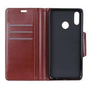 Wallet PU kožené peňaženkové puzdro na Xiaomi Redmi Note 7 - hnedé - 2