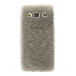 Broušené puzdro na Samsung Galaxy A3 - šedá - 2