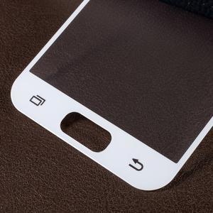 Croco celoplošné fixačné sklo pre displej telefonu Samsung Galaxy A3 (2017) - biely lem - 2