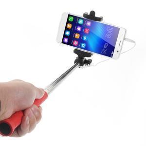 D9X automatická selfie tyč se spínačem - červená - 2