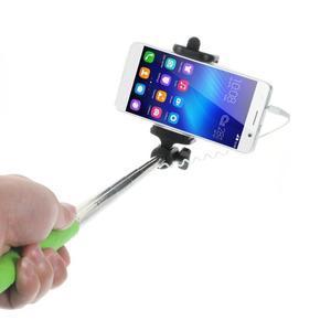 D9X automatická selfie tyč so spínačom - zelená - 2