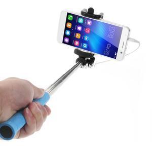 D9X automatická selfie tyč se spínačem - modrá - 2