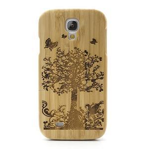 Dřevené pouzdro rozepínací na Samsung Galaxy S4 - stromeček - 2