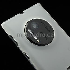Gélové matné puzdro pre Nokia Lumia 1020- biele - 2