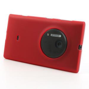 Gélové matné puzdro pre Nokia Lumia 1020- červené - 2