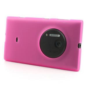 Gélové matné puzdro pre Nokia Lumia 1020- ružové - 2