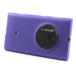 Gélové matné puzdro pre Nokia Lumia 1020- fialové - 2