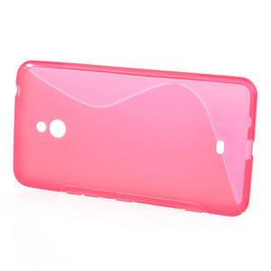 Gélové S-line puzdro pre Nokia Lumia 1320- ružové - 2