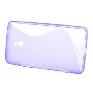 Gélové S-line puzdro pre Nokia Lumia 1320- fialové - 2