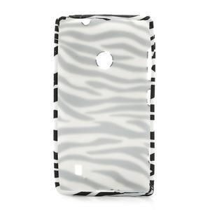 Gélové puzdro na Nokia Lumia 520- zebra - 2