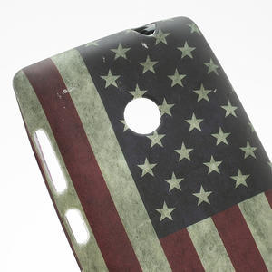 Gélové puzdro na Nokia Lumia 520- USA vlajka - 2