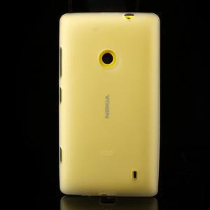 Gélové matné puzdro na Nokia Lumia 520 - biele - 2