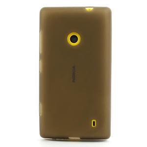 Gélové matné puzdro na Nokia Lumia 520 - šedé - 2