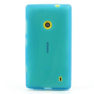 Gélové matné puzdro na Nokia Lumia 520 - svetlo modré - 2